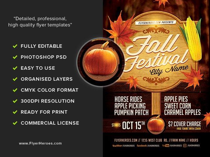 Fall Festival Flyers Template Beautiful Fall Festival Flyer Template 3 Flyerheroes