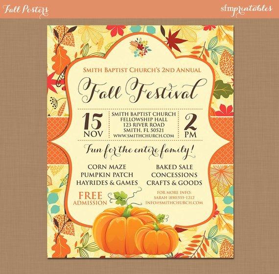 Fall Festival Flyers Template Elegant Fall Festival Harvest Invitation Poster Pumpkin Patch Farm