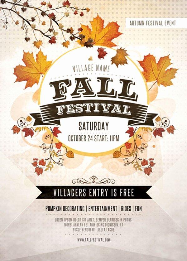 Fall Festival Flyers Template Fresh 35 Elegant Festival Flyer Design Templates Ai Word