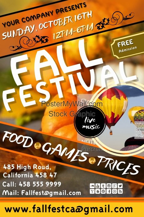 Fall Festival Flyers Template Inspirational Copy Of Fall Festival4