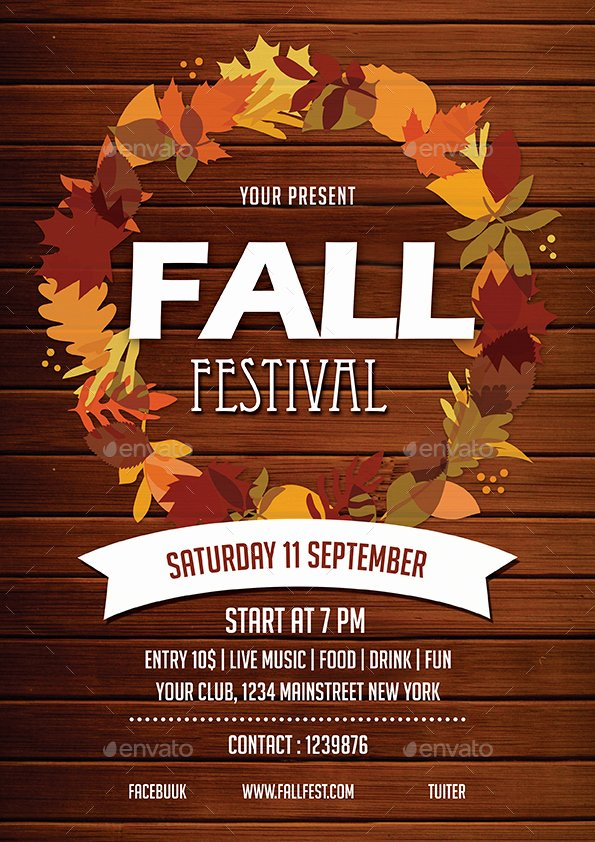 Fall Festival Flyers Template Inspirational Fall Festival Flyer by Vynetta