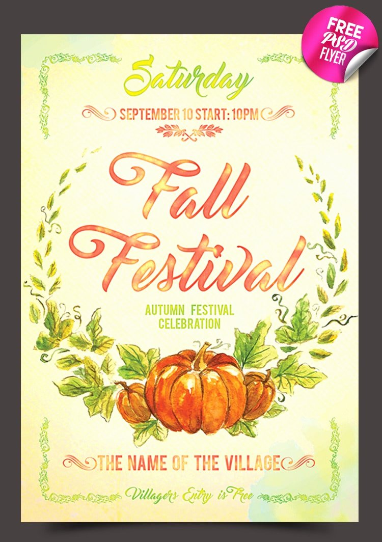Fall Festival Flyers Template Lovely Free Flyer Templates Psd From 2016 Css Author