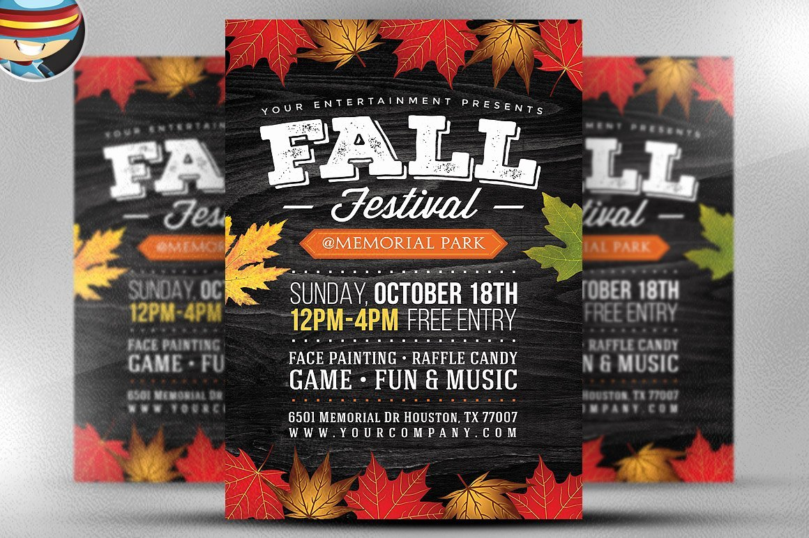 Fall Festival Flyers Template New Fall Festival Flyer Template 2 Flyer Templates