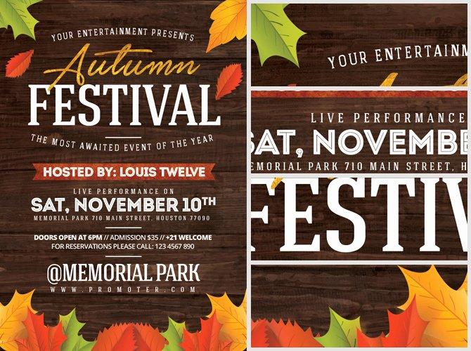 Fall Festival Flyers Template Unique Autumn Festival Flyer Template Flyerheroes