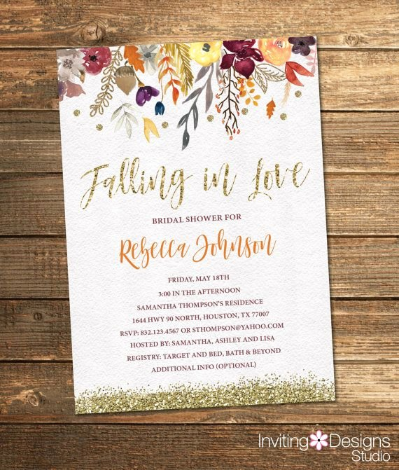 Fall Party Invitation Template Awesome Best 25 Bridal Shower Fall Ideas On Pinterest
