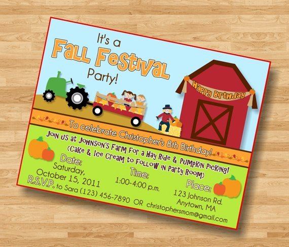 Fall Party Invitation Template Awesome Items Similar to Fall Festival Pumpkin Patch Birthday