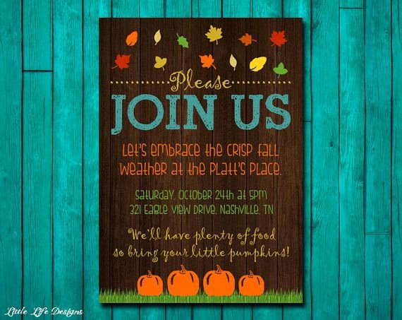 Fall Party Invitation Template Beautiful 1000 Ideas About Fall Party Invitations On Pinterest