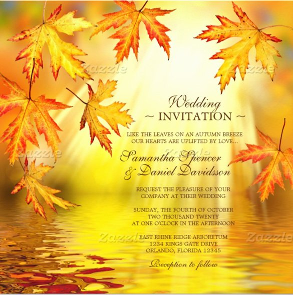 Fall Party Invitation Template Best Of 26 Fall Wedding Invitation Templates – Free Sample