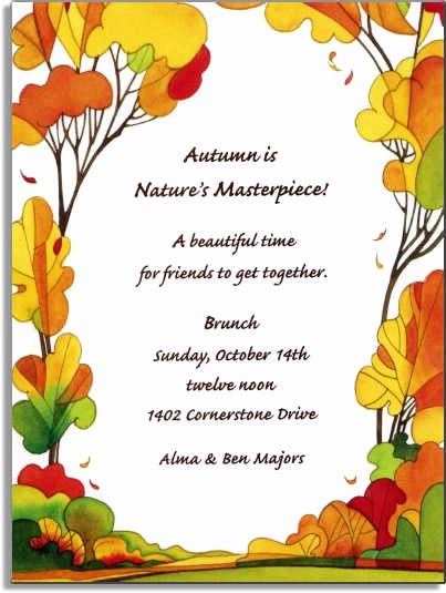 Fall Party Invitation Template Best Of 6 Best Of Autumn Invitations to Print