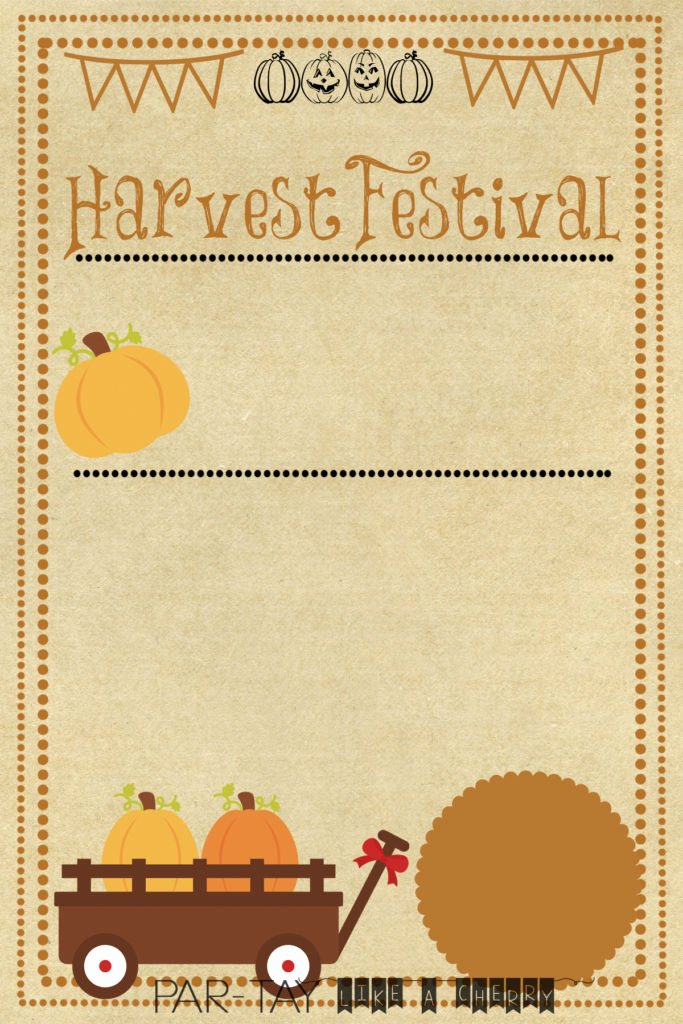 Fall Party Invitation Template Elegant Harvest Festival Invitation Party Like A Cherry