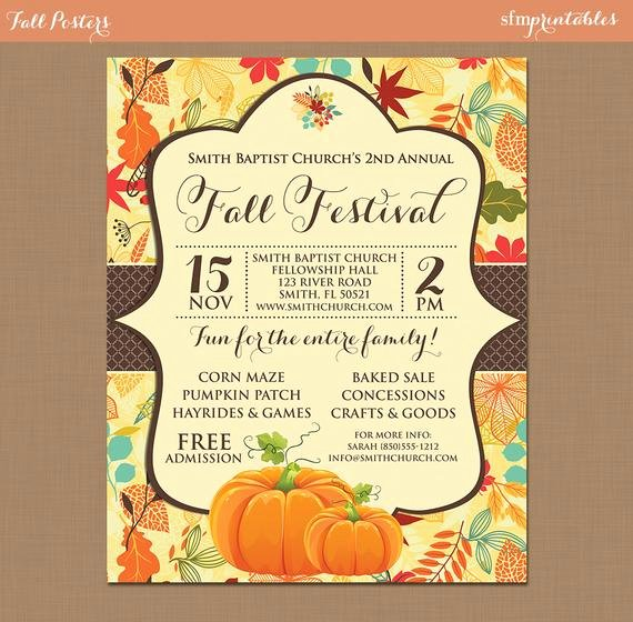 Fall Party Invitation Template Fresh Fall Festival Harvest Invitation Poster Pumpkin Patch