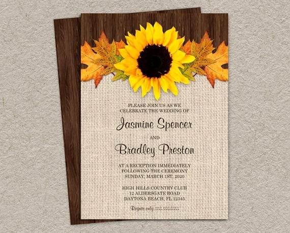 Fall Party Invitation Template Lovely Items Similar to Rustic Fall Wedding Reception Invitation
