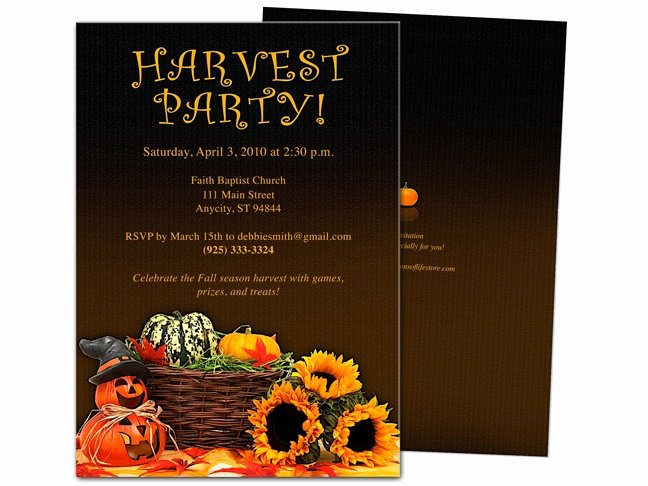 Fall Party Invitation Template Luxury Harvest Party Template