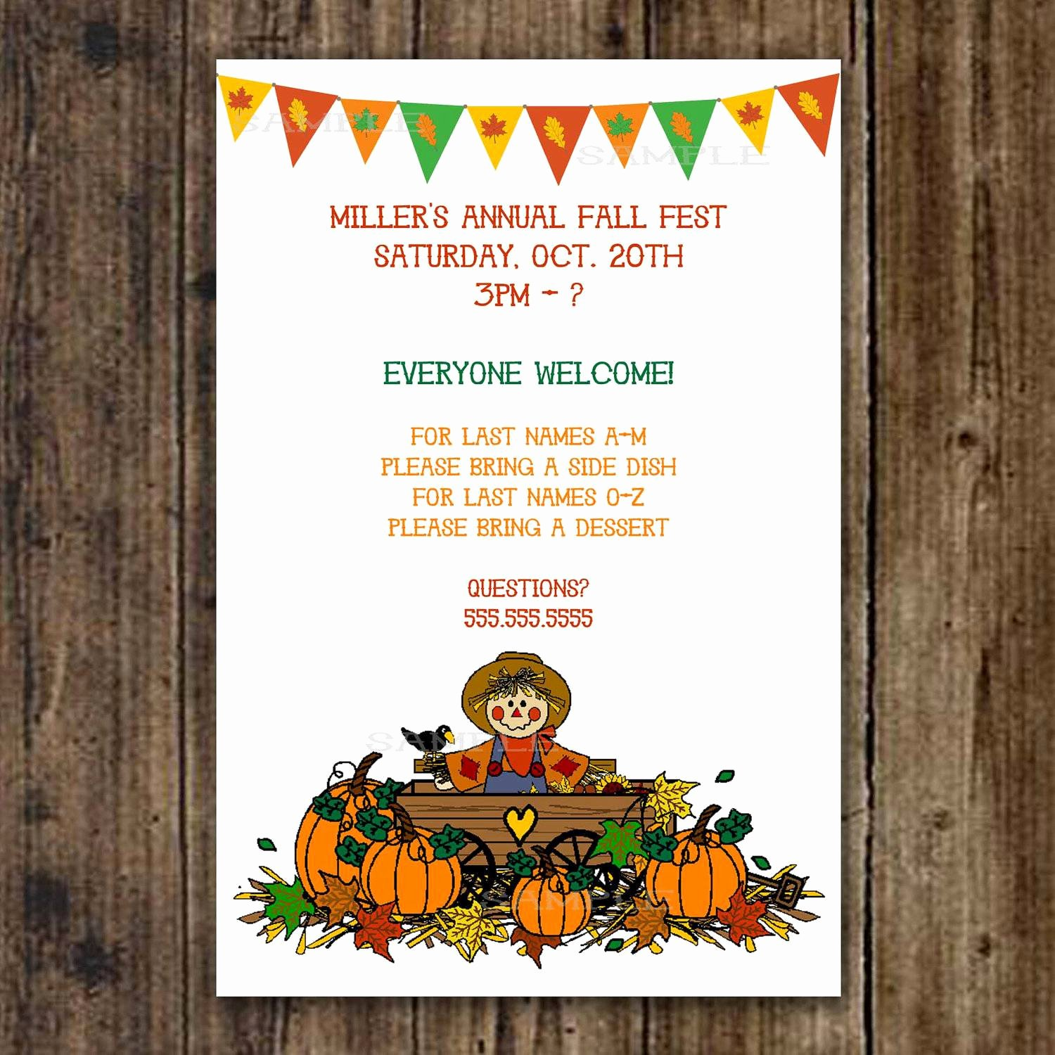 Fall Party Invitation Template Unique Fall Party Invitations