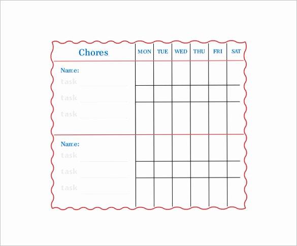 Family Chore Chart Template Elegant Family Chore Chart Template – 13 Free Sample Example