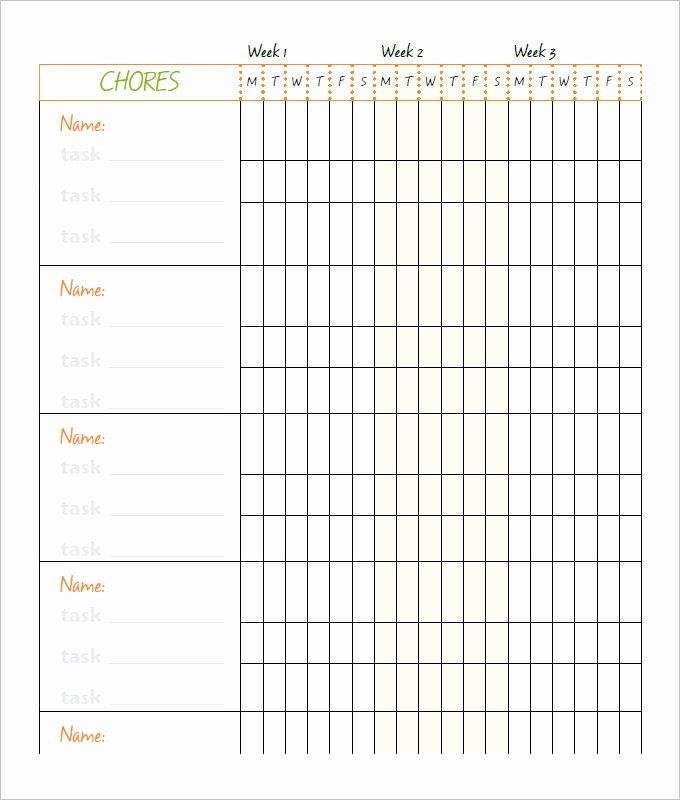 Family Chore Chart Template Fresh 10 Family Chore Chart Templates Pdf Doc Excel