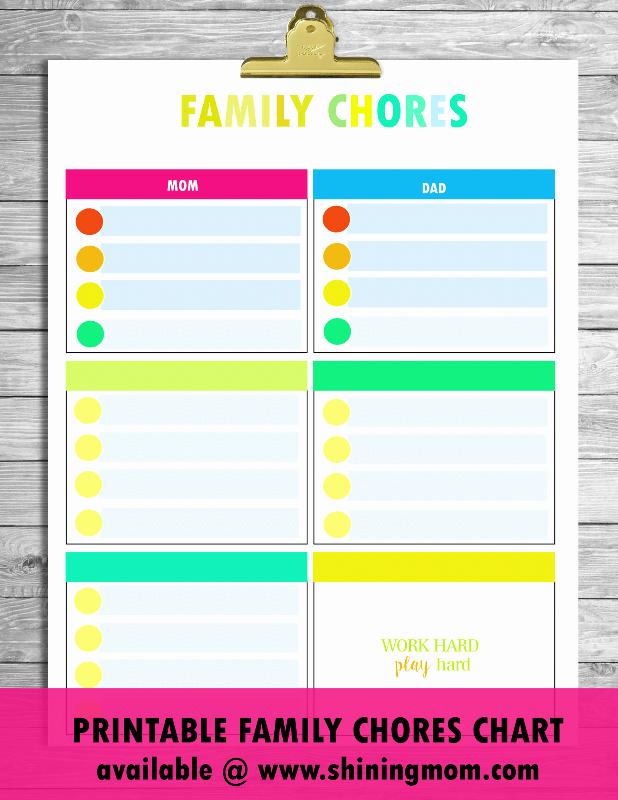 Family Chore Chart Template Fresh Free Printable Chore Charts that Work