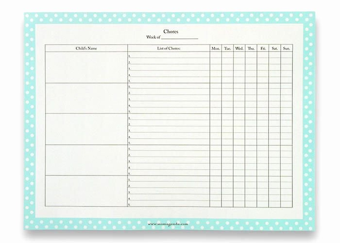 Family Chore Chart Template New Family Chore Chart Template