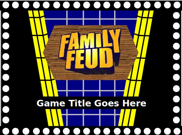 Family Feud Game Template Awesome Family Feud Game Powerpoint Template