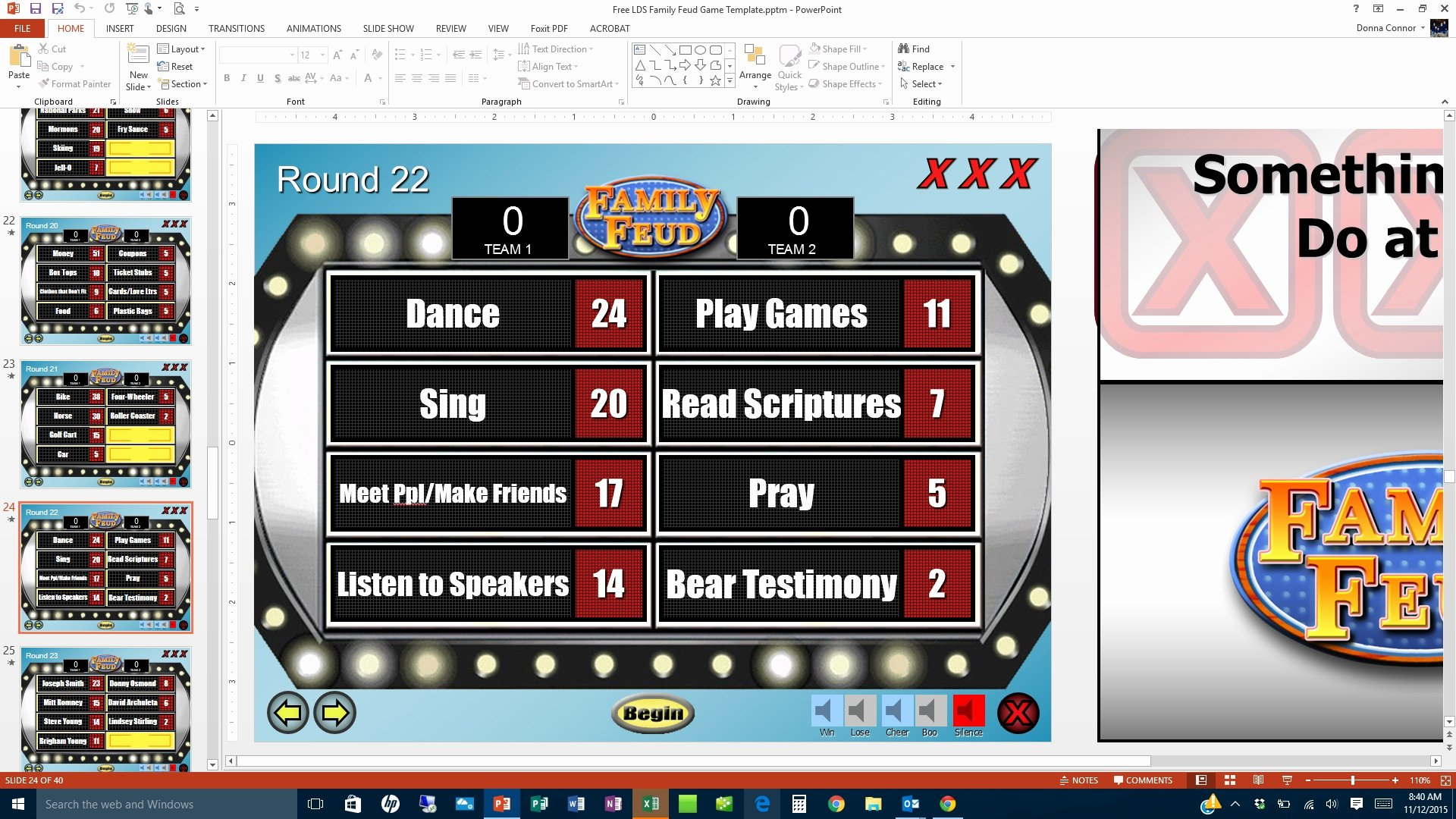 Family Feud Game Template Elegant Family Feud Game Template
