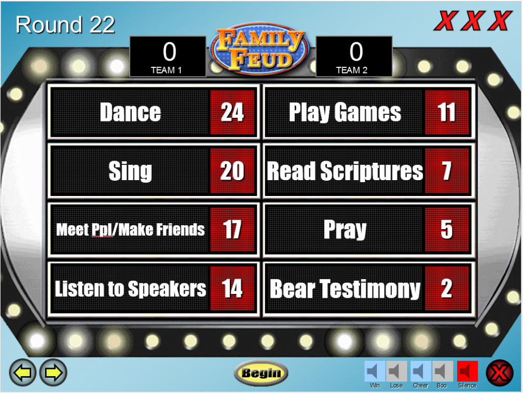 Family Feud Game Template Elegant Lds Family Feud Game Template Prospering Families