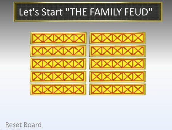 Family Feud Game Template Lovely Family Feud Powerpoint Template