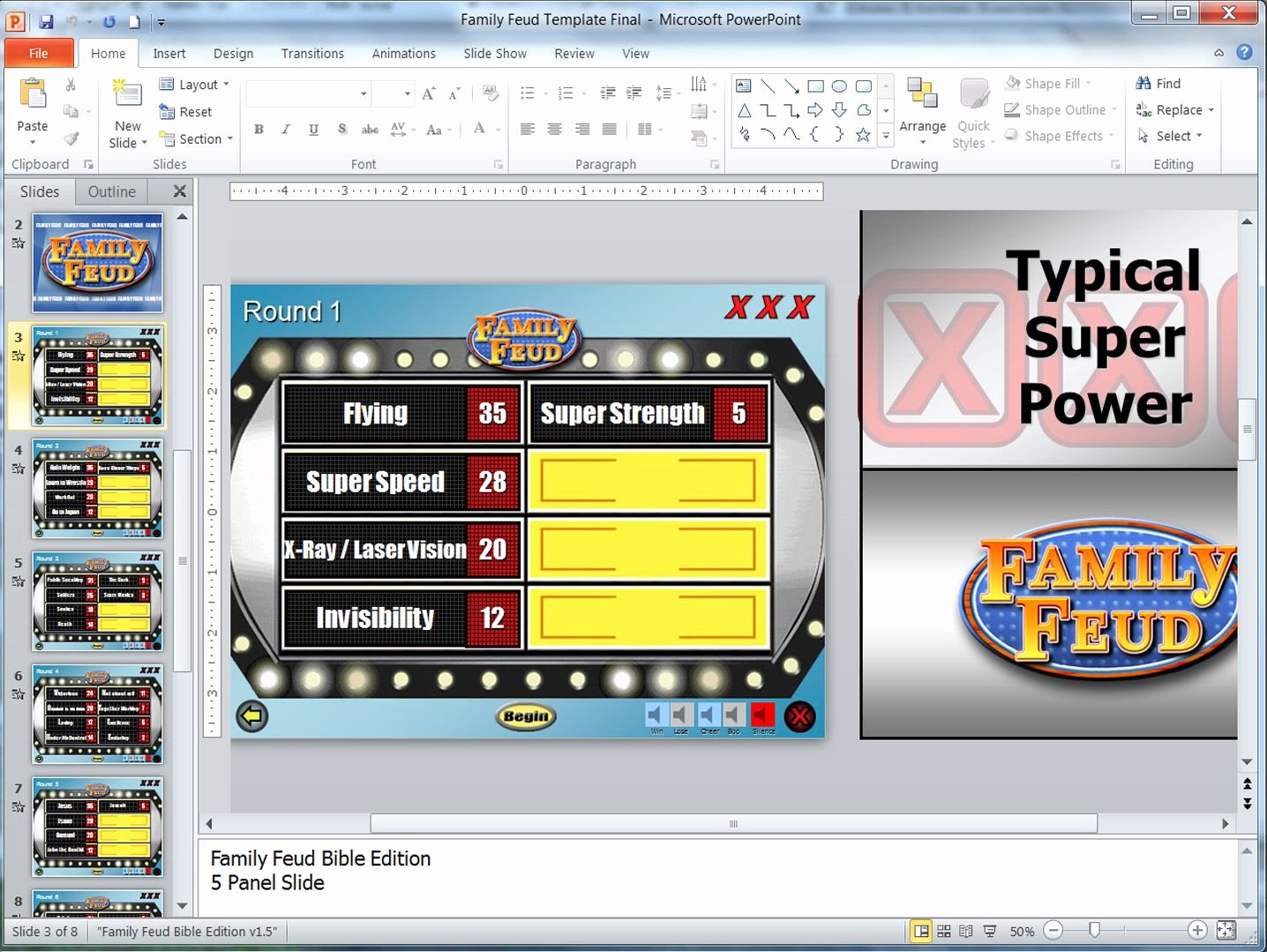 Family Feud Game Template Luxury A Customizable Family Feud Powerpoint Game It Takes A