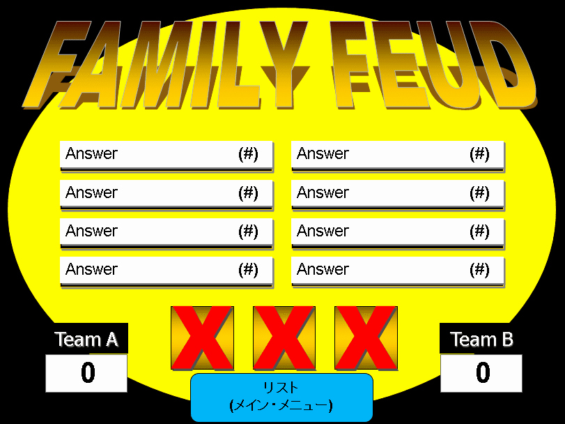 Family Feud Powerpoint Template Beautiful 6 Free Family Feud Powerpoint Templates for Teachers