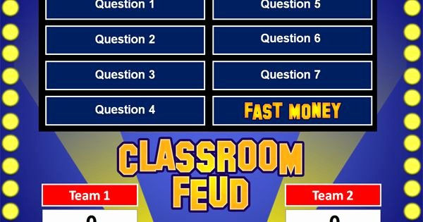 Family Feud Powerpoint Template Elegant Family Feud Powerpoint Game Template