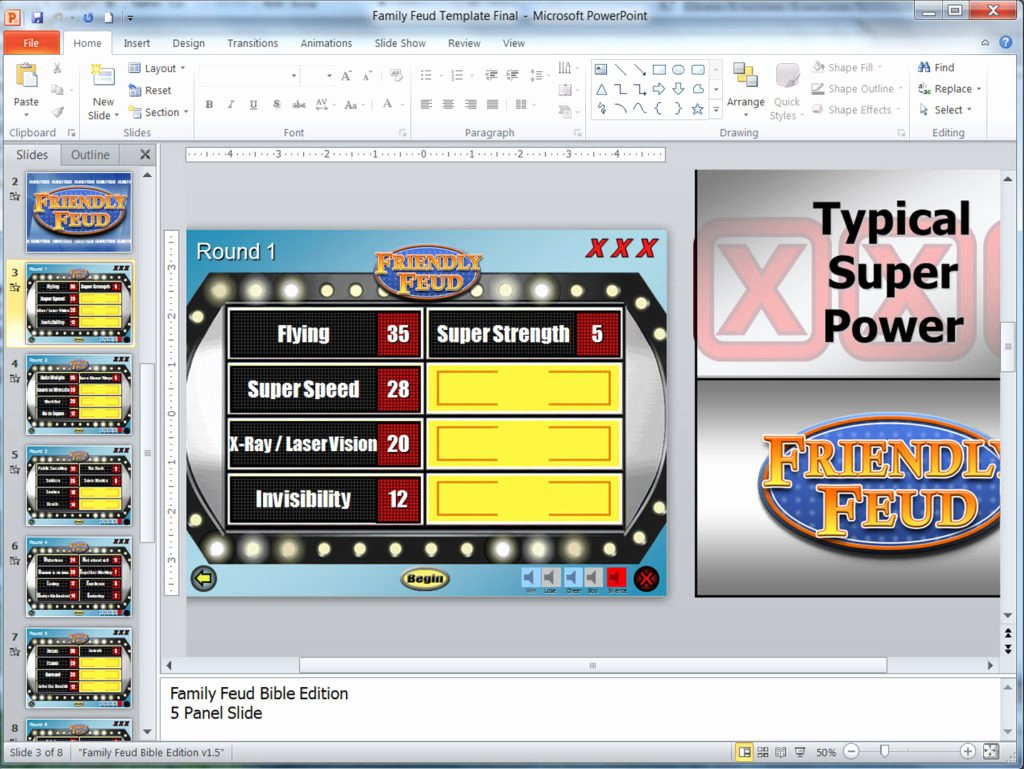 Family Feud Powerpoint Template New Family Feud Customizable Powerpoint Template Youth