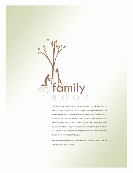 Family History Book Template Lovely Family History Book