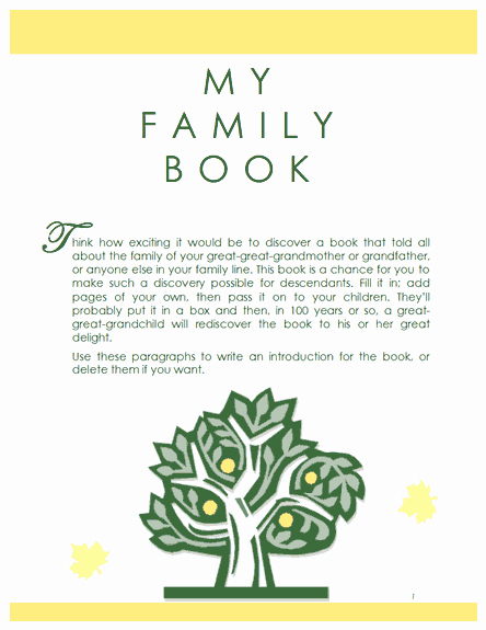 Family History Book Template Unique Family Tree Template Family History Record Template
