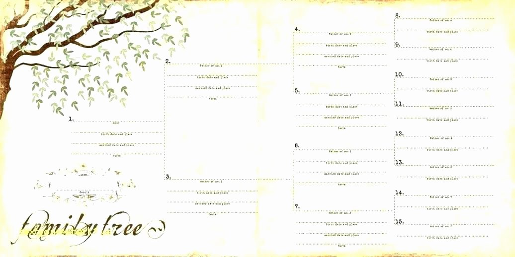 Family History Book Template Unique Sample Family History Book Template Our Family Tree Book