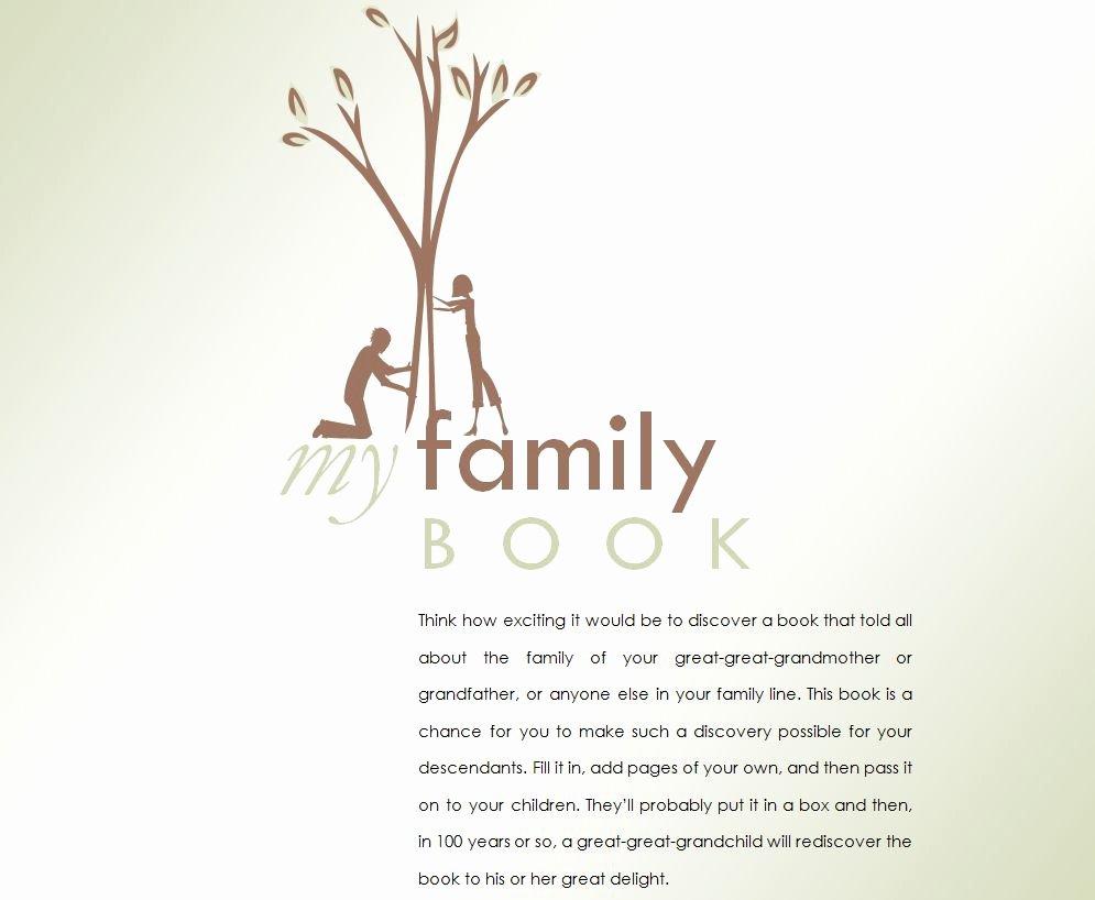 Family History Books Template Fresh Family History Book