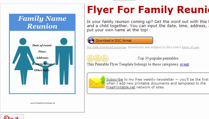 Family Reunion Flyer Template Awesome 3 Free Family Reunion Flyer Templates