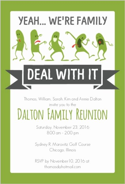 Family Reunion Flyer Template Awesome Funny Family Reunion Invitation