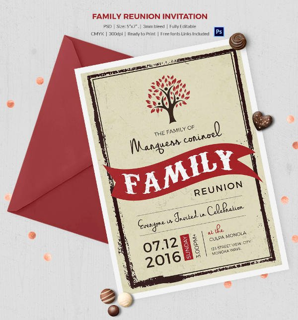 Family Reunion Flyer Template Fresh 32 Family Reunion Invitation Templates Free Psd Vector