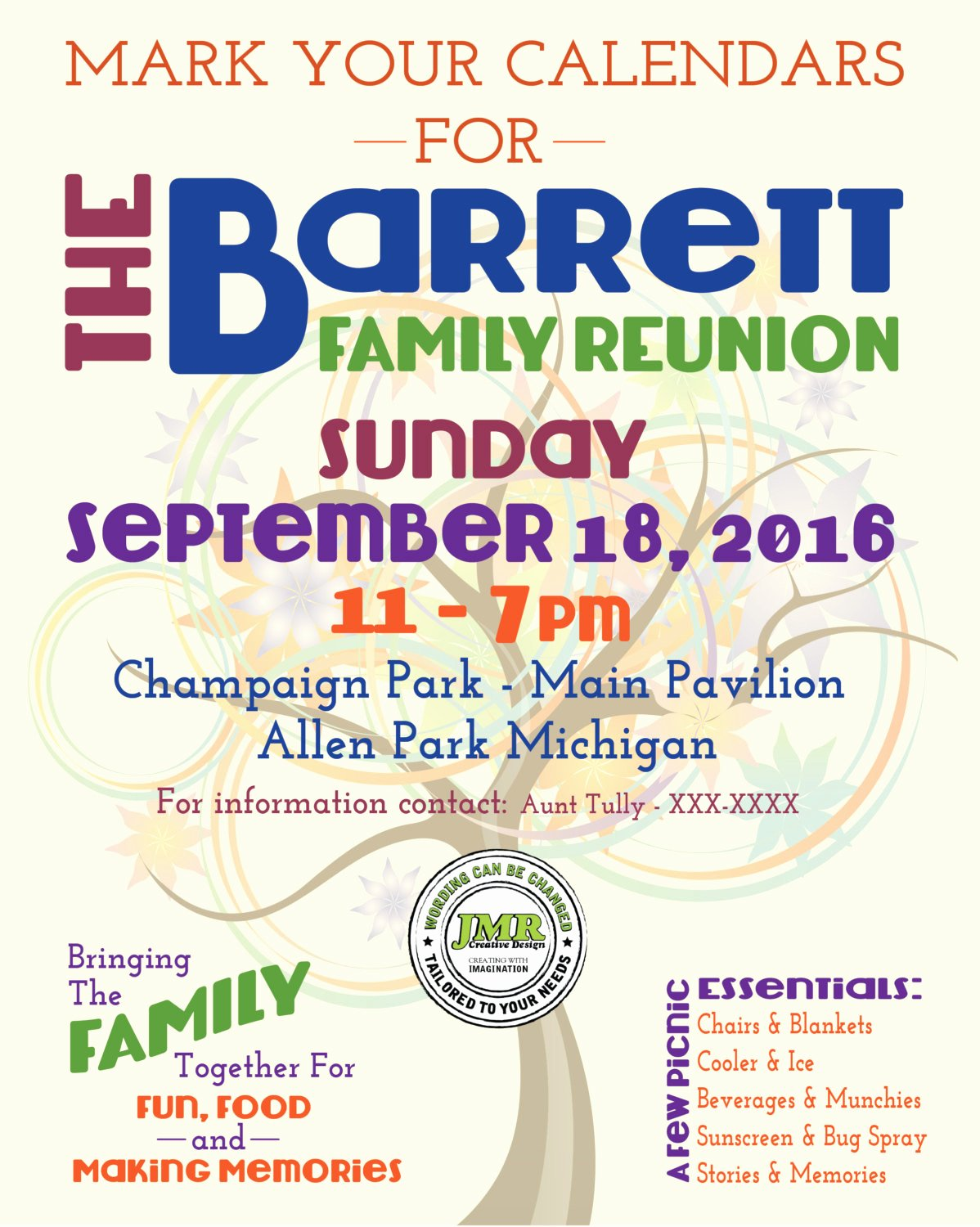 Family Reunion Flyer Template Fresh Family Reunion Flyer Save the Date Tree Of Life