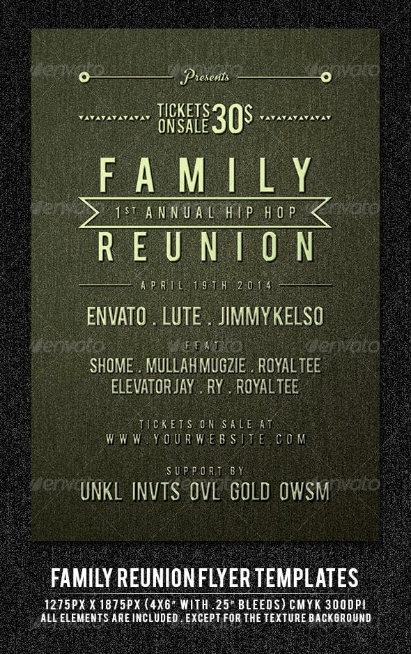 Family Reunion Flyer Template Fresh Family Reunion Invitation