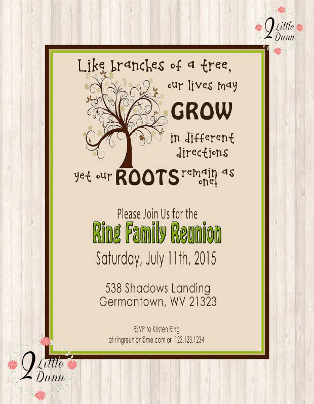 Family Reunion Flyer Template Inspirational 15 Family Reunion Invitations Printable Psd Ai Vector