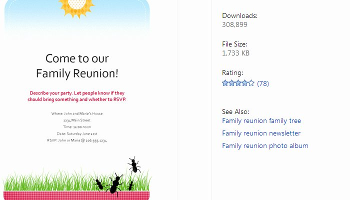 Family Reunion Flyer Template Inspirational 3 Free Family Reunion Flyer Templates
