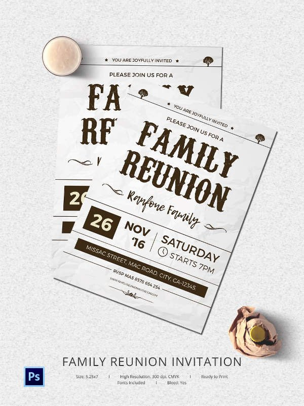 Family Reunion Flyer Template Inspirational 32 Family Reunion Invitation Templates Free Psd Vector