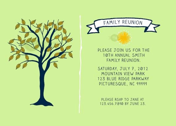 Family Reunion Flyer Template Inspirational Family Reunion Invitation