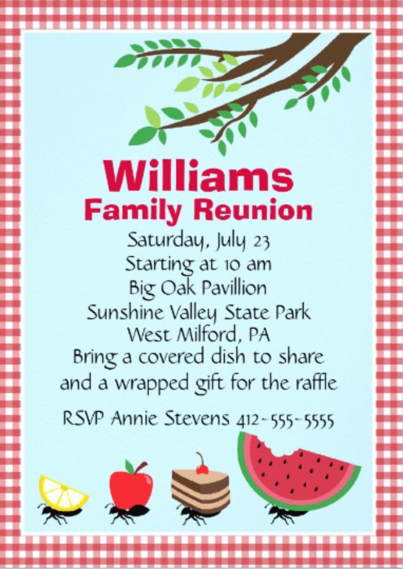 Family Reunion Flyer Template Lovely Picnic Invitation Template – 20 Free Psd Vector Eps Ai