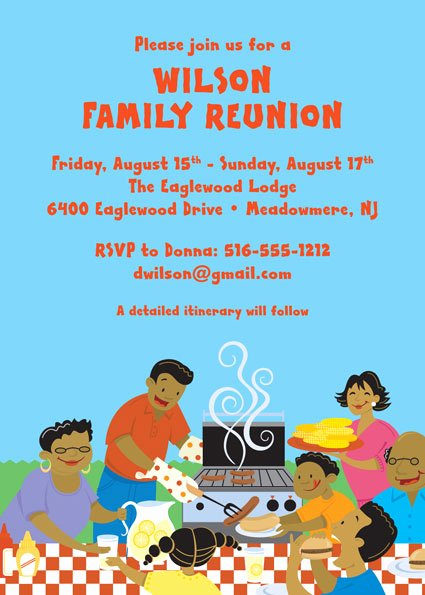 Family Reunion Flyer Template Luxury A Family Reunion Party Invitation