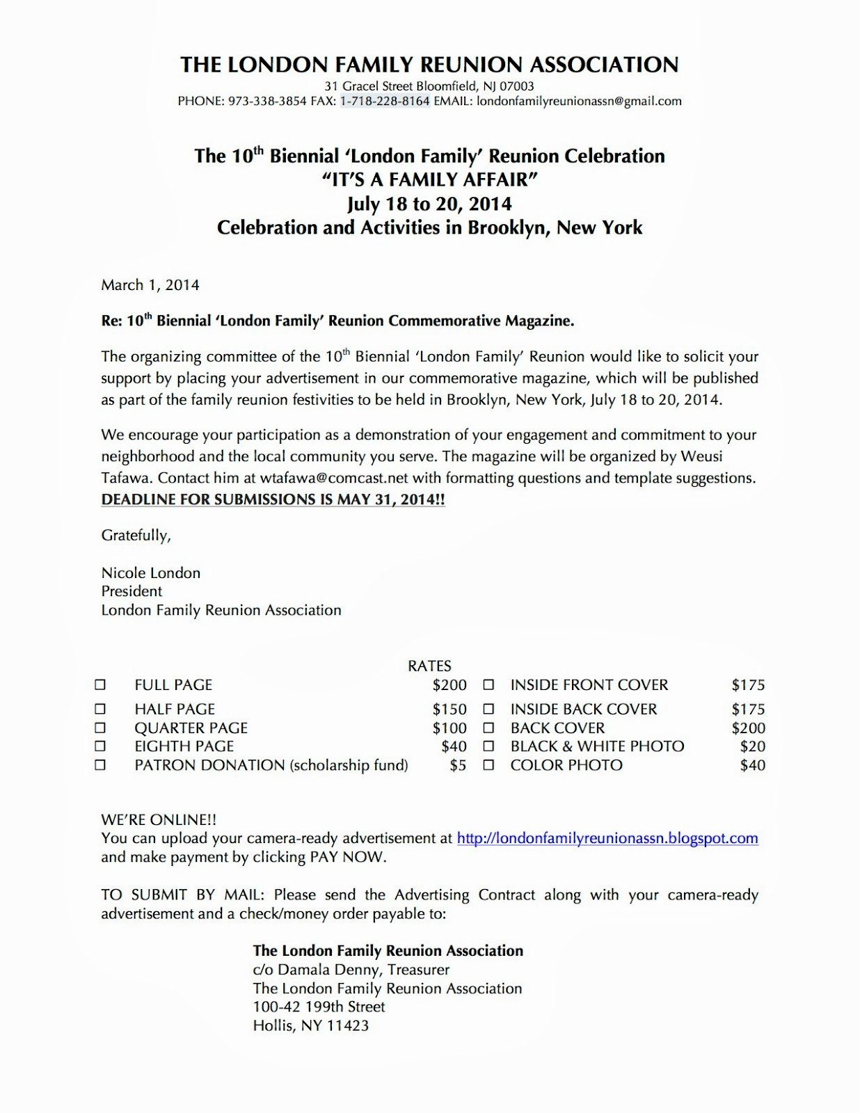 Family Reunion Letter Template Beautiful Family Reunion Letter Templates Portablegasgrillweber