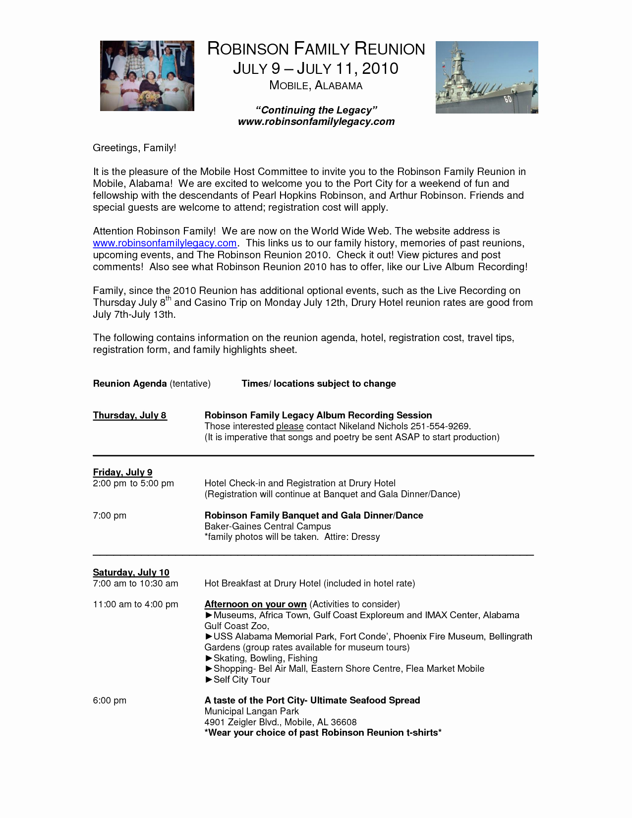 Family Reunion Letter Template Inspirational Family Reunion Letter Templates Portablegasgrillweber