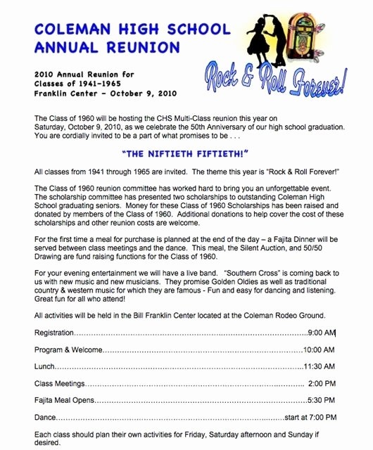 Family Reunion Letters Template Best Of Invitation Letter Reunion