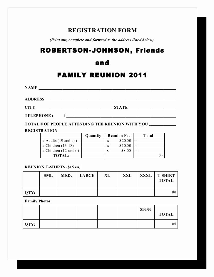 Family Reunion Letters Template Elegant Robertson & Johnson Family Reunion Letter