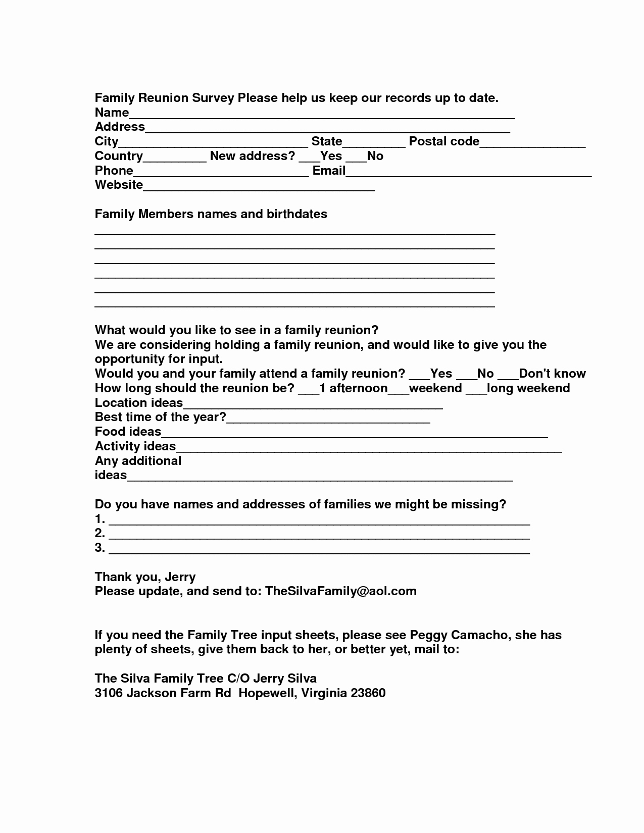 Family Reunion Letters Template Luxury Family Reunion Interest Letter to Pin On